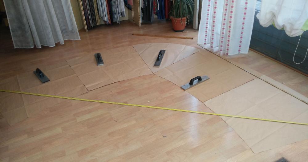 la costruzione della pianta del divano al vero